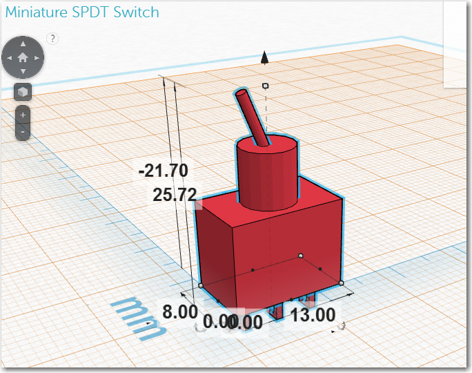 Subminiature SPDT switch model