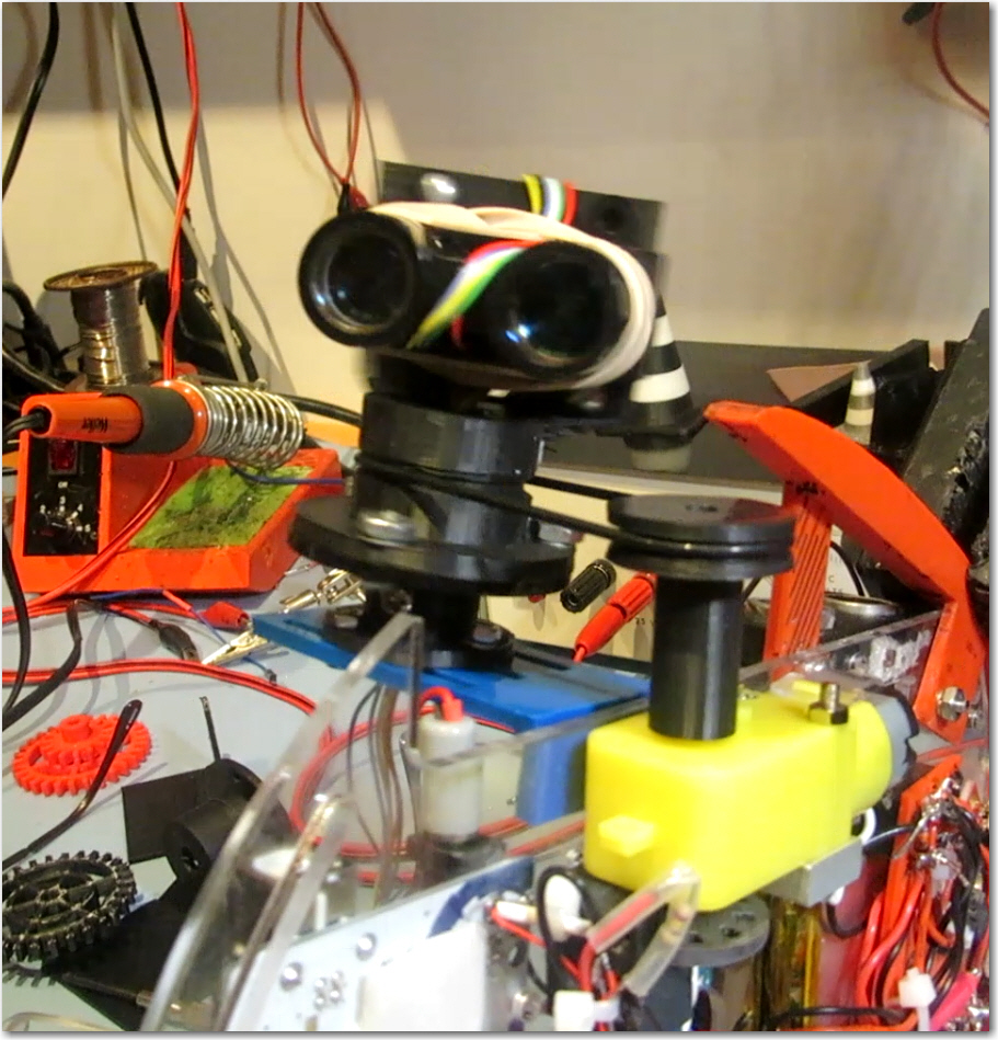 Spinning LIDAR drive assembly and LIDAR unit.  Note O-ring drive belt.