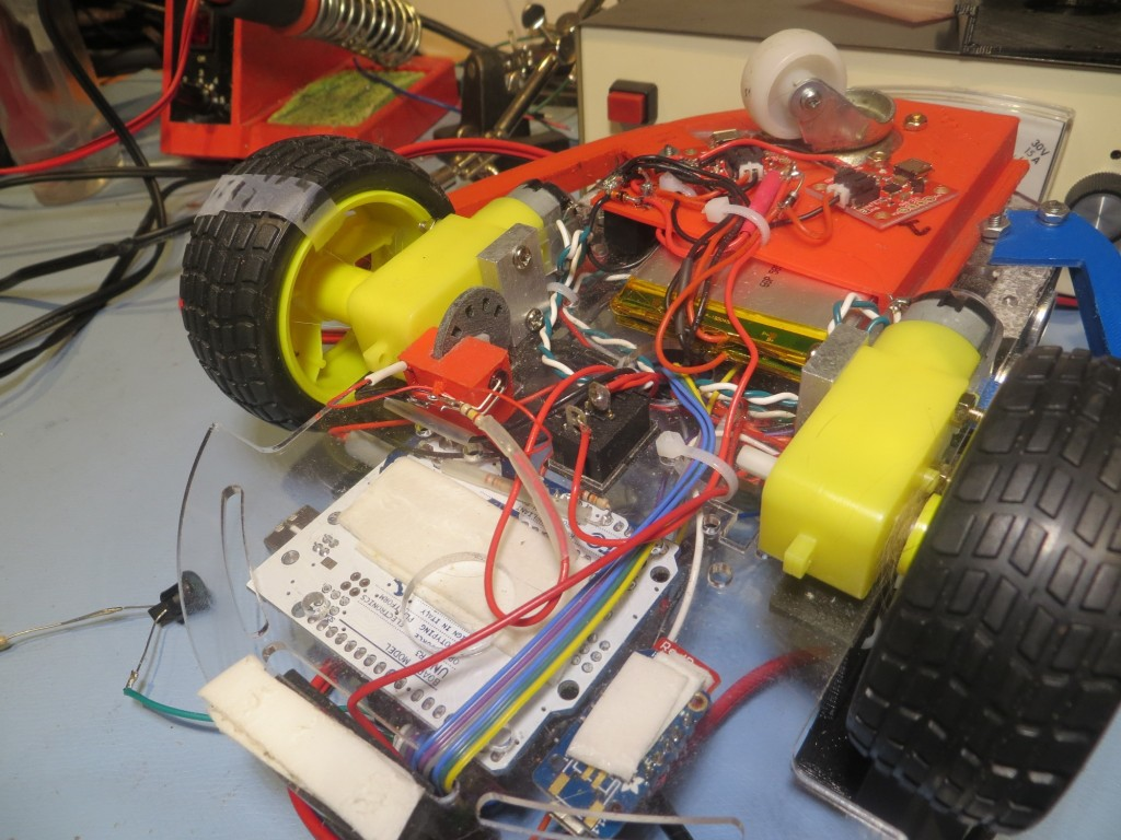 Wall-E's right motor being used as my tachometer test bed