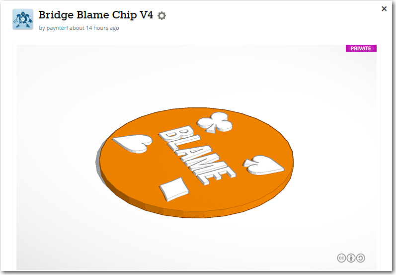 TinkerCad design for the Duplicate Bridge Blame Chip