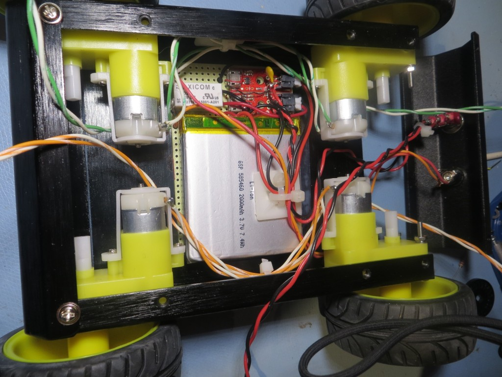Battery pack installed in motor bay