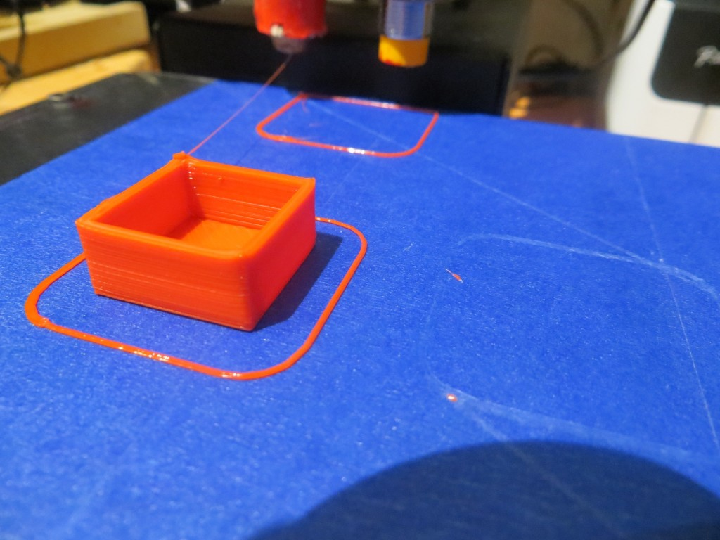 20mm cal cube printed at (0,103)