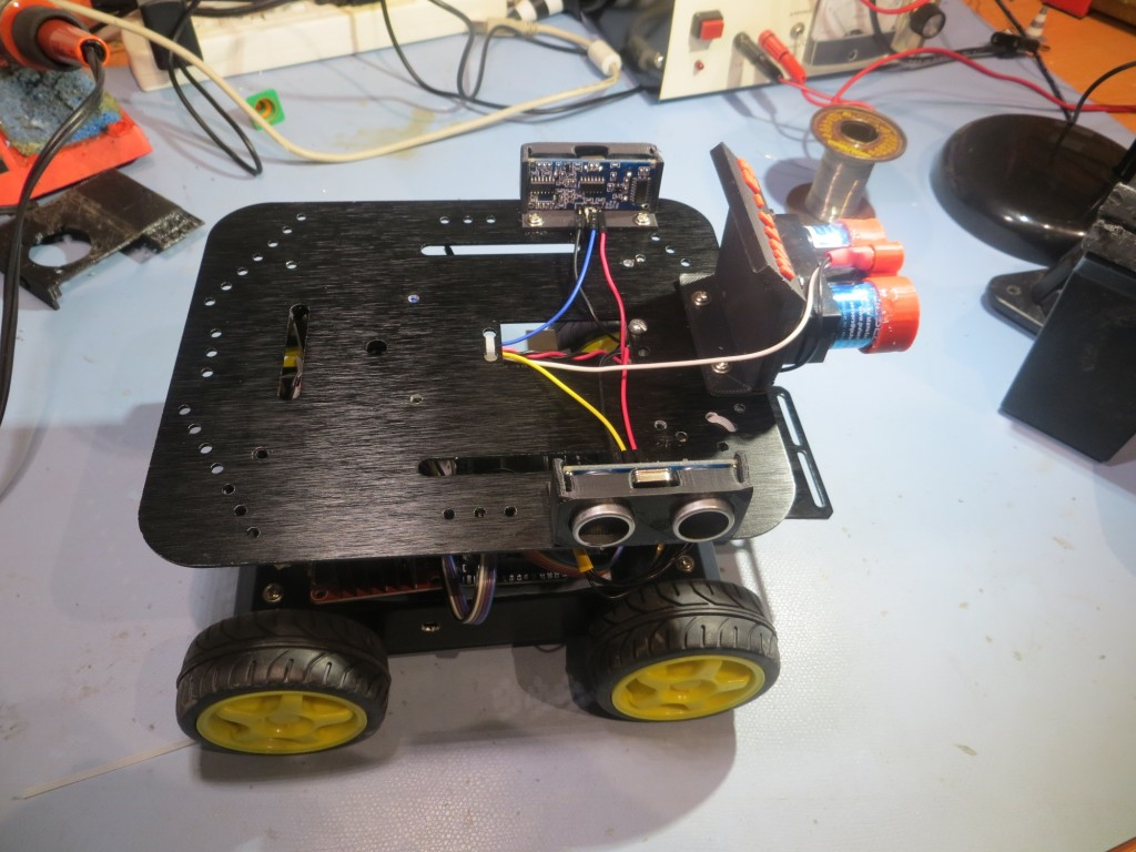 Right side view of the assembled robot