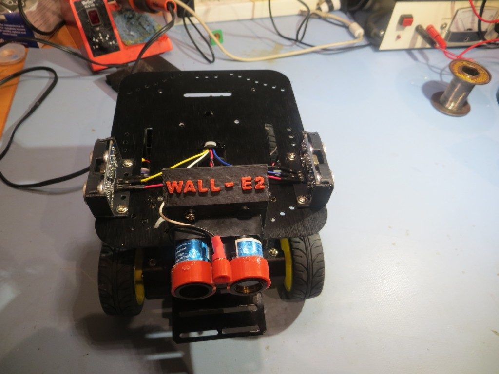 Front view of the assembled robot