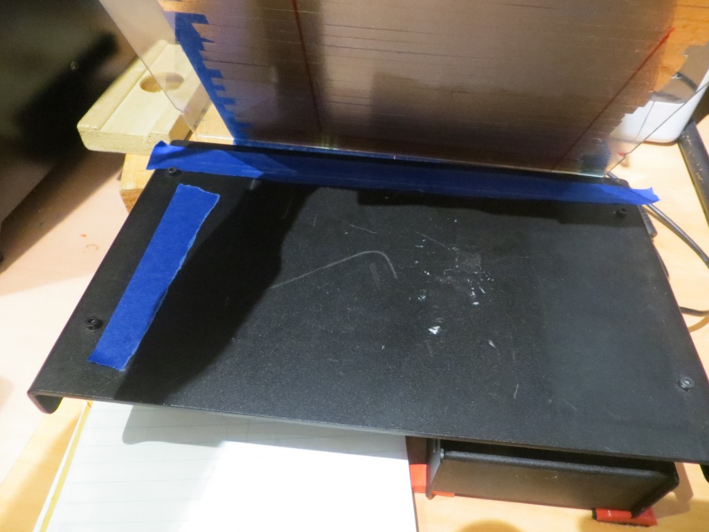 Initial painter's tape shim layout