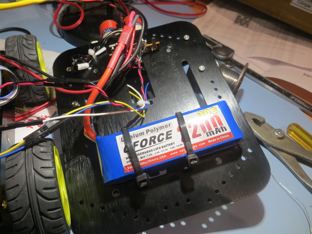 Original mounting idea for the new battery