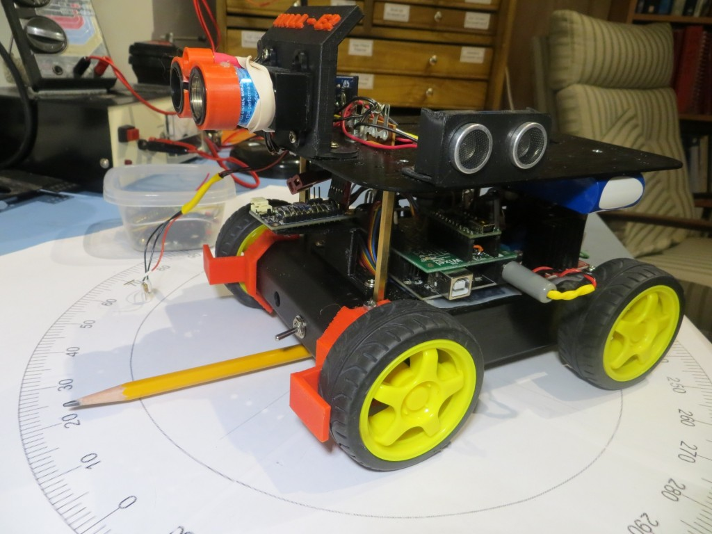 Mongoose installed on robot, side view