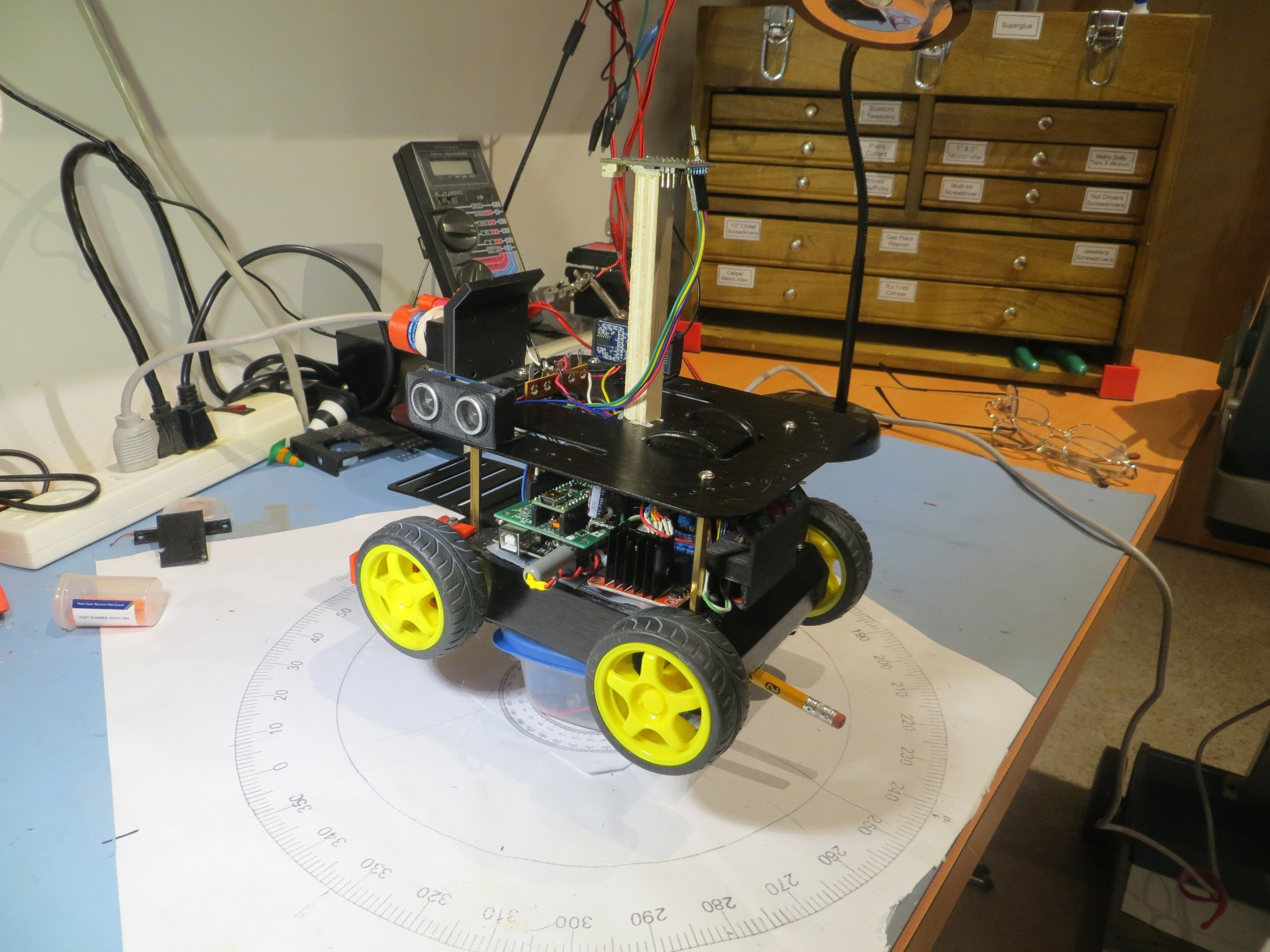 """Test setup for the """"Power and Motors"""" IMU heading error experiment."""