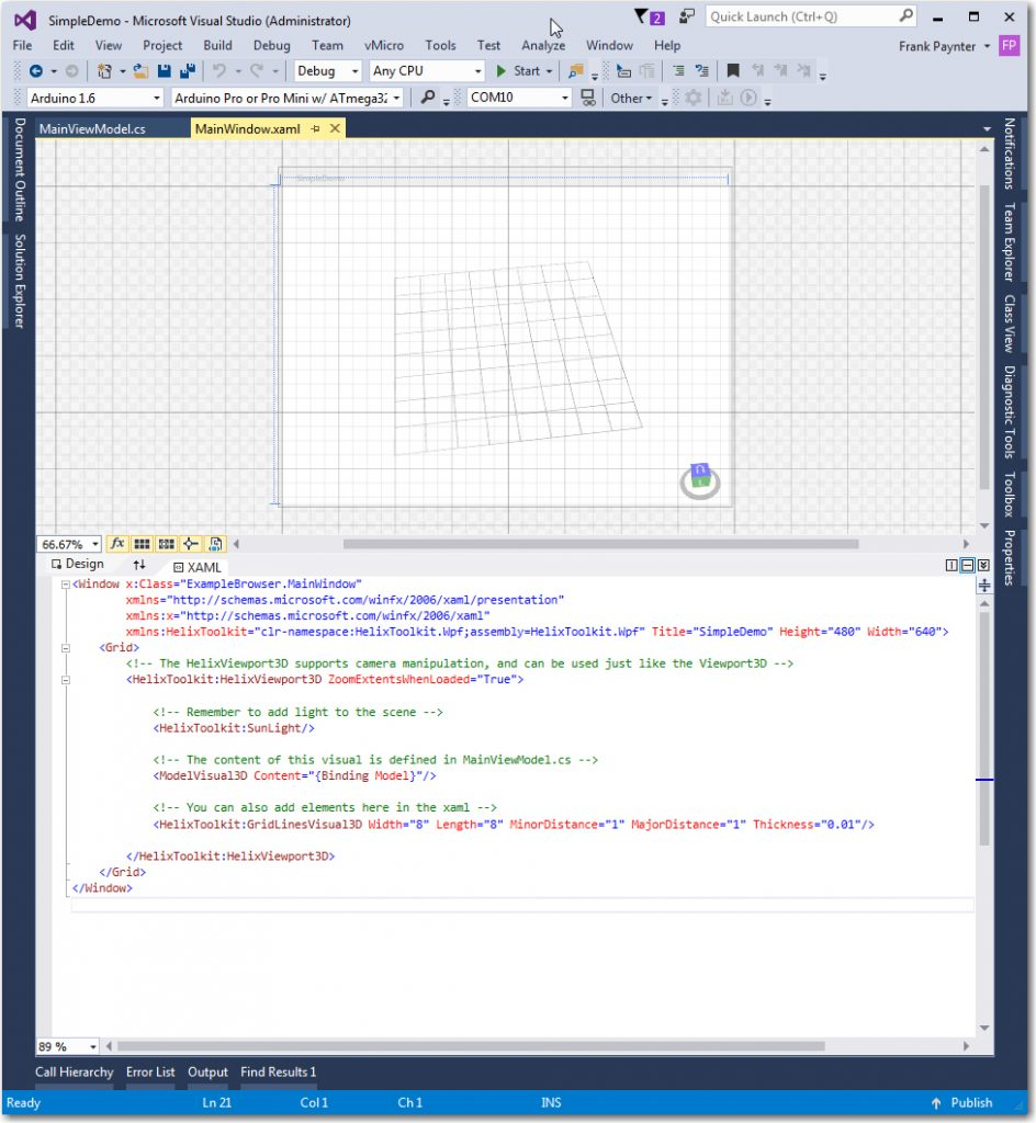Simple Demo XAML View