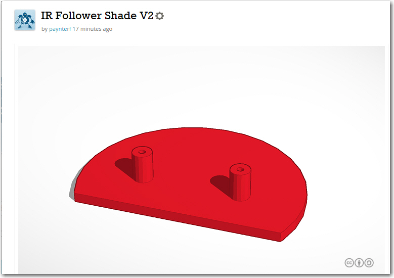 IR Shade V2. 3mm thickness, 80% fill