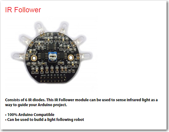 IR follower description from the OSEPP website