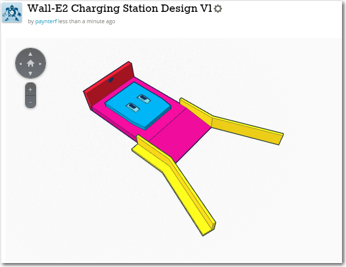 1/2-scale concept model for the Wall-E2 charging station